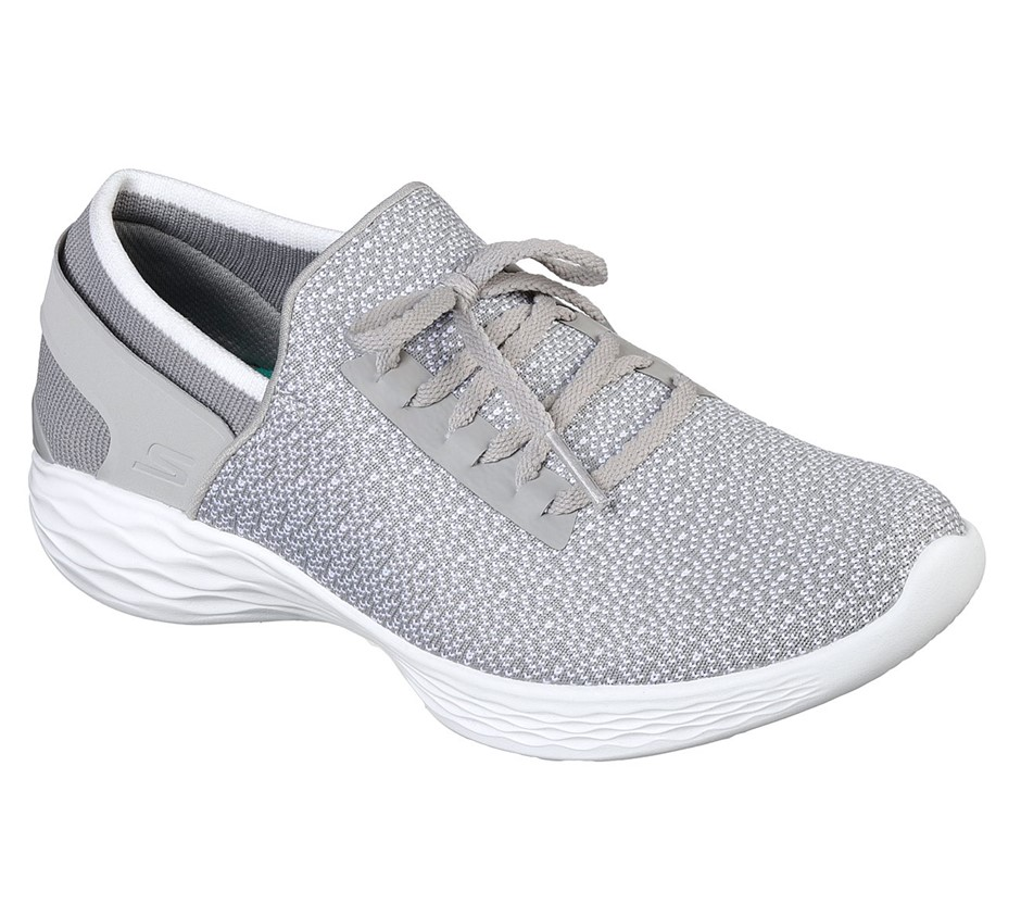 YOU by SKECHERS Women`s Kinit Slip-on Shoes, UK 4.5, Grey. (SN:CC54921) (26