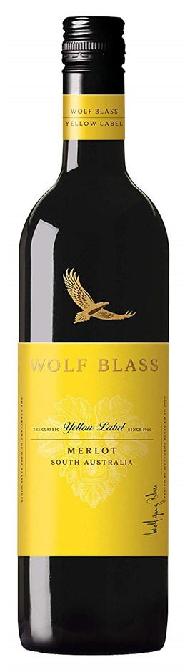 Wolf Blass Yellow Label Merlot 2018 (6x 750mL).TAS.