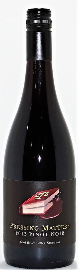 Pressing Matters 'Coal River Valley' Pinot Noir 2015 (1x 750mL), TAS. Cork