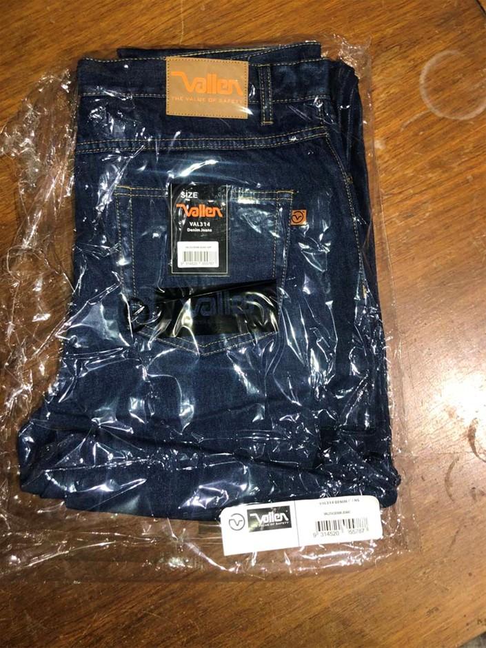 1 x Pair Heavy Duty Work Jeans, Size: 102R, Brand: Vallen