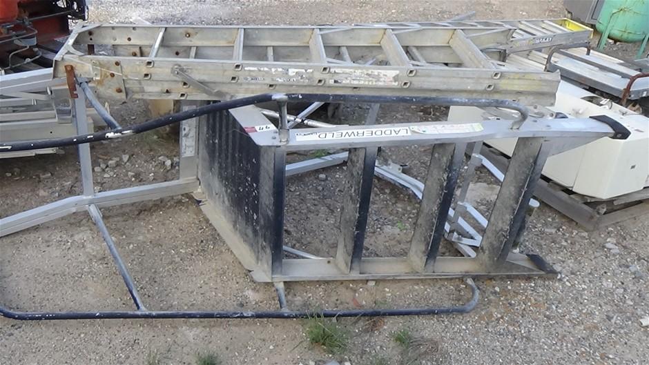 Qty 2 Aluminum Ladders