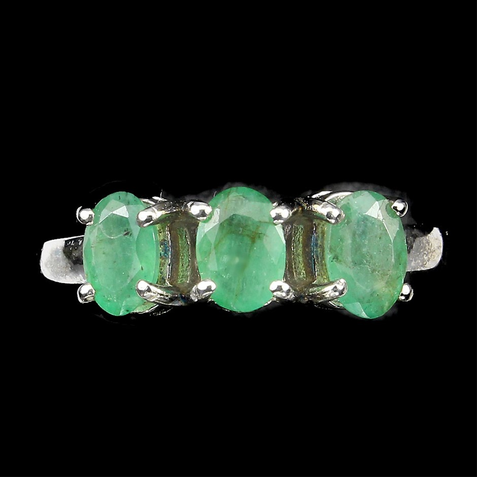 Genuine Emerald Trilogy Ring.