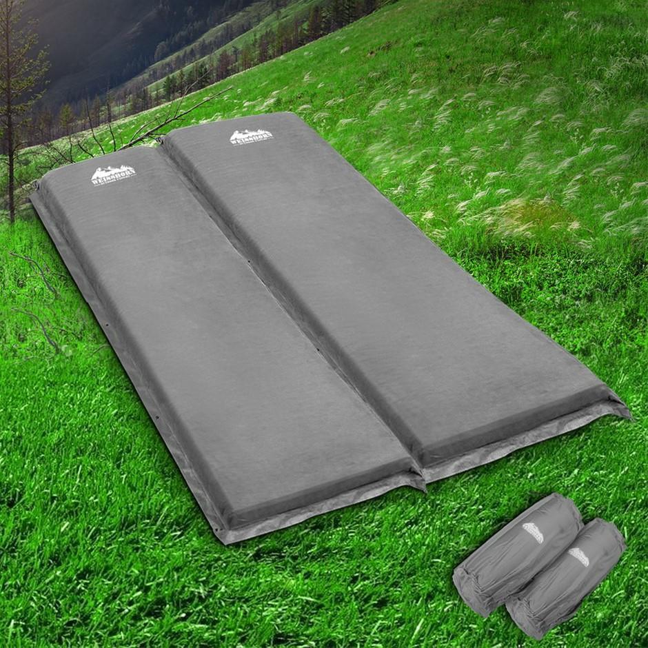 Weisshorn Self Inflating Mattress Camping Sleeping Mat Air Bed Pad Double