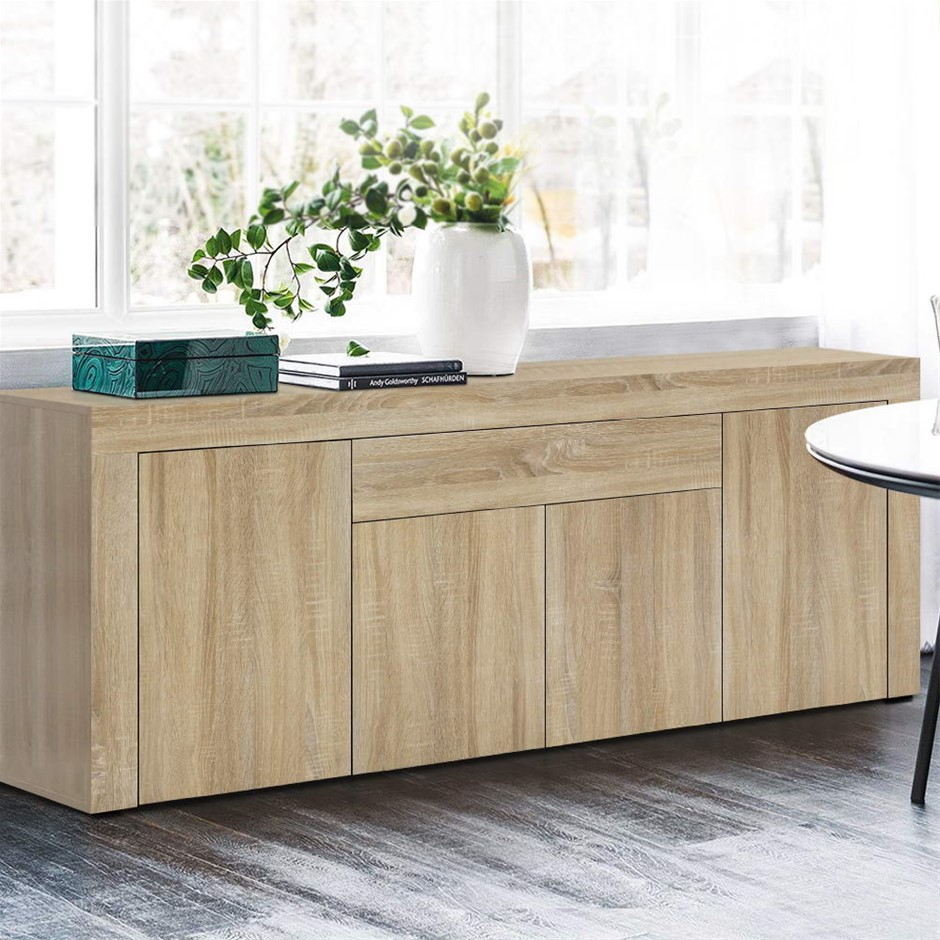 Artiss Buffet Sideboard Cabinet Storage 4 Doors Cupboard Wood Hallway Table