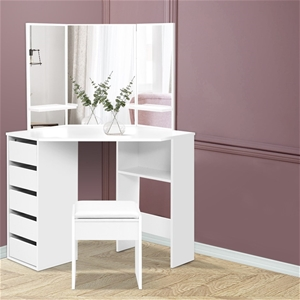Artiss Corner Dressing Table With Mirror