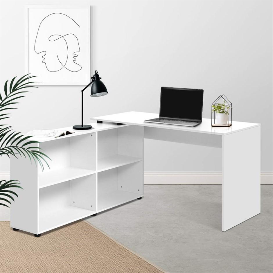 Artiss Office Computer Desk Corner Study Table Workstation Bookcase Storage