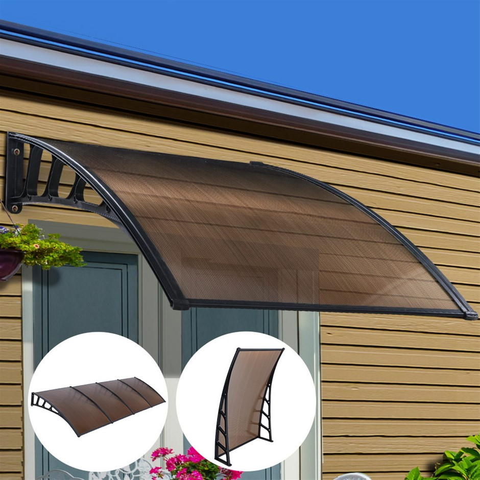Instahut Window Door Awning Door Canopy Patio Cover Shade 1.5mx4m DIY BR