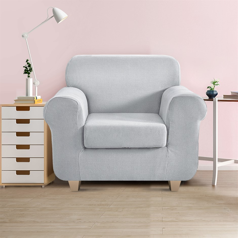 Artiss 2-piece Sofa Cover Elastic Stretch Protector 1 Seater Grey