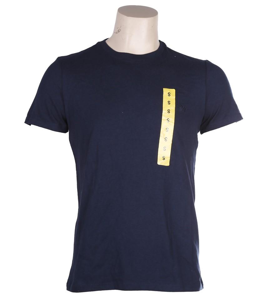2 x COAST CLOTHING CO Men`s Sleepwear T-Shirts, Size S, 100% Cotton, Navy.