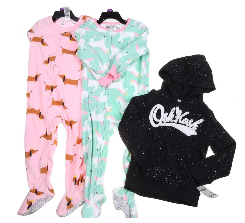Assorted CARTER`S & OSHKOSH Girl`s Clothing, Sizes: 24M & 4T, Polyester & C
