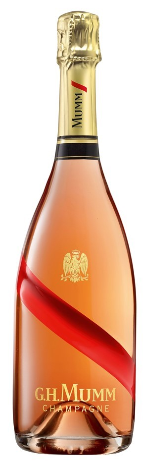 G. H. Mumm Cordon Rouge Champagne Rosé NV (6 x750mL), France.