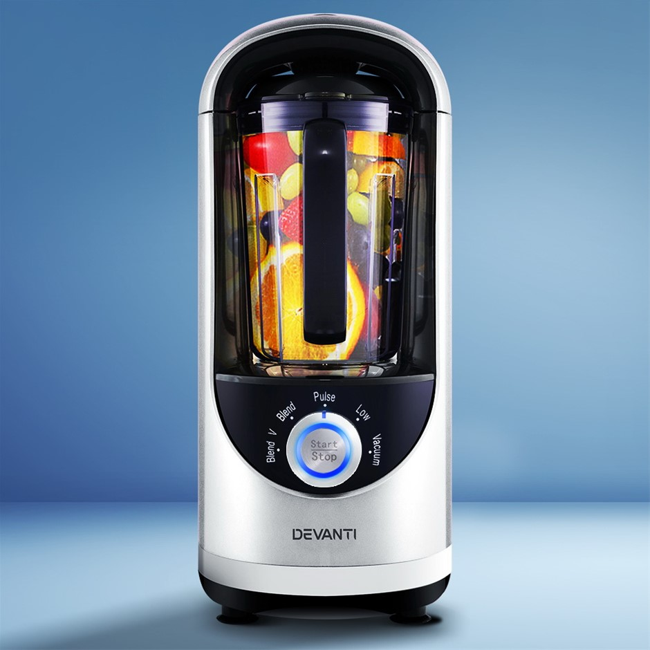 Devanti Vacuum Blender Juicer Mixer Food Processor Smoothie Silver