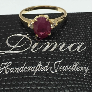 18ct Yellow Gold, 2.20ct Ruby and Diamon