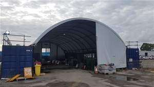 Allshelter 12m x 24m x 3m Container Dome
