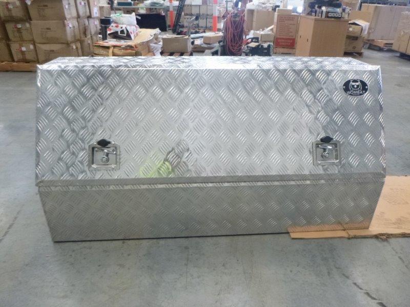 Wombat WSA 1450 Aluminium Checkered Plate Toolbox (Bid Price Per Toolbox)