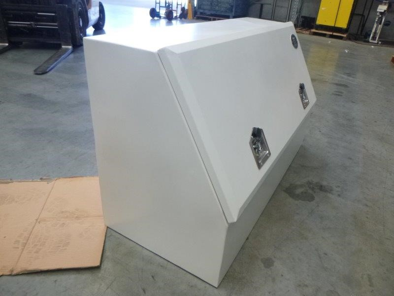 Wombat Galvanised and Powder Coated White Toolbox (Bid Price Per Toolbox)