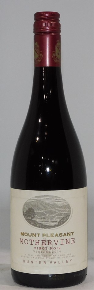 Mt Pleasant Mothervine Pinot Noir 2016 (6x 750mL) Hunter Valley, NSW.