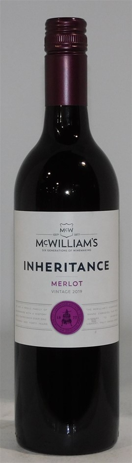 McWilliams Inheritance Merlot 2019 (12x 750mL) SEA.