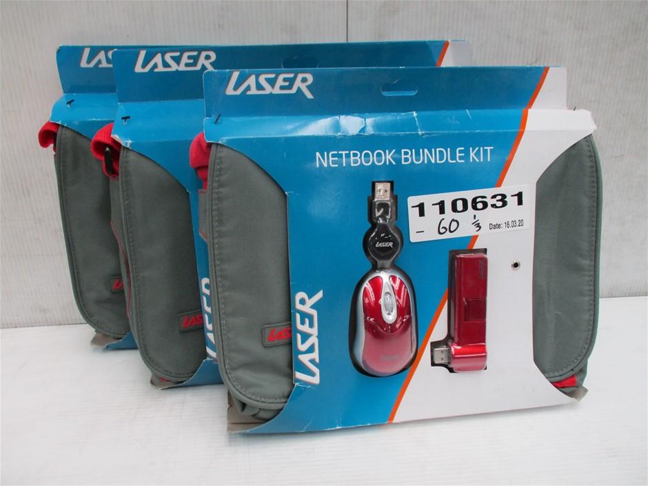 Qty 3 x Laser PK-10Bundle-GR Netbook Bundle Kits