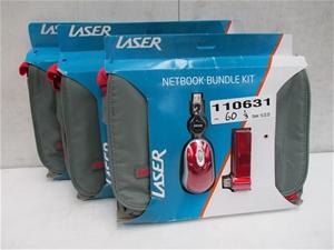 Qty 3 x Laser PK-10Bundle-GR Netbook Bun