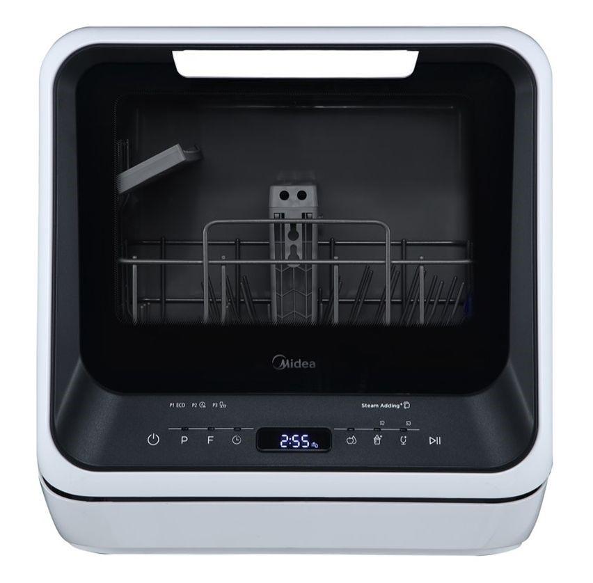 Midea 3 Place Setting & 99.9% Sterilization Rate Mini Dishwasher, Black