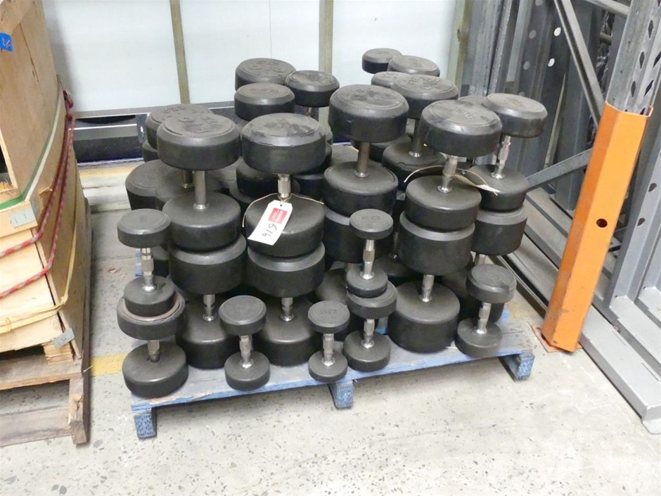 Approx 40 assorted size Dumbbells