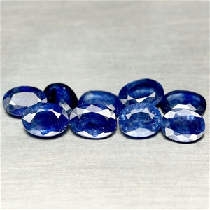 8.26 ct. (Approx. 9pc) Oval Cut Blue Sap