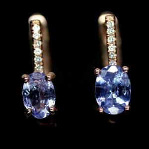 Wonderful Rose Gold Tanzanite Earrings