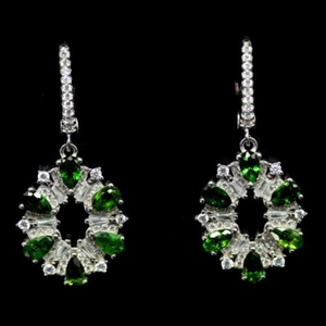 Gorgeous Chrome Green Diopside Earrings