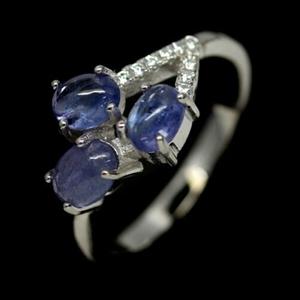 Divine Blue Tanzanite Ring. Size 'L'