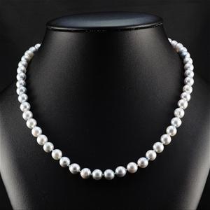 Natural grey Akoya Pearl Uniform Necklac