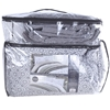 STYLE DECOR 3pc Queen Reversible Comforter & Coverlet Set. Grey. N.b. soile