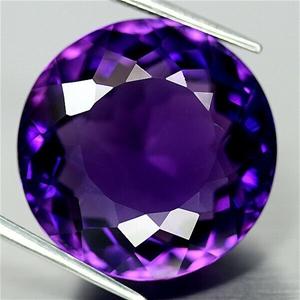 26.41ct. Round Facet Purple Amethyst