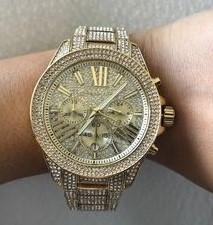 New Michael Kors 'Wren' Gold Plated gemstone stunning watch.