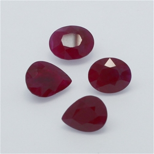 Four Loose Ruby, 7.50ct in Total