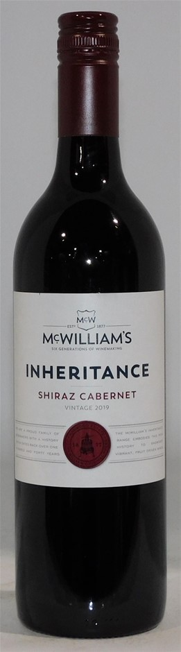 Plt of 64 Ctns -McWilliams Inheritance Shiraz Cabernet 2019 (768x 750mL)
