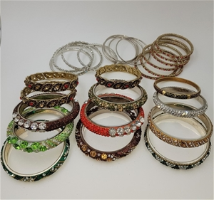 Collection Of 28 Crystal Bangles.