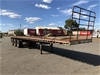 1988 Freighter ST3 Triaxle Flat Top Trailer