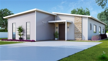 3 x 3 Bedroom 2 Bathroom Transportable Module Home on Pre Stressed Concrete Base