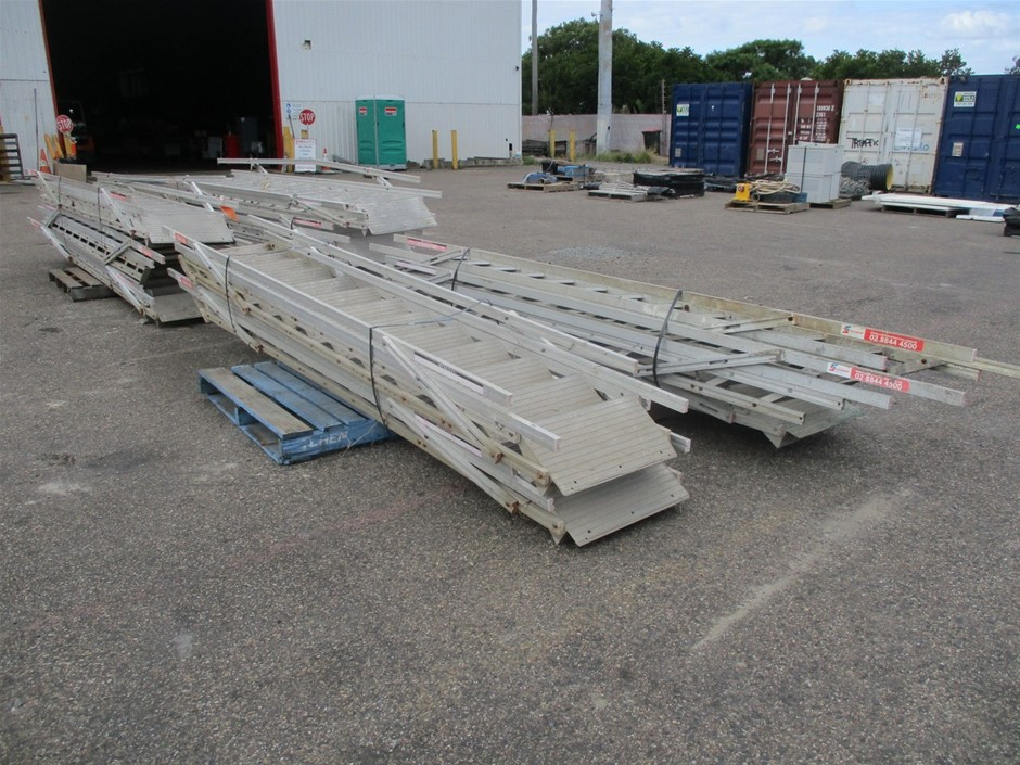 4x Pallets of Scaffold Access Steps