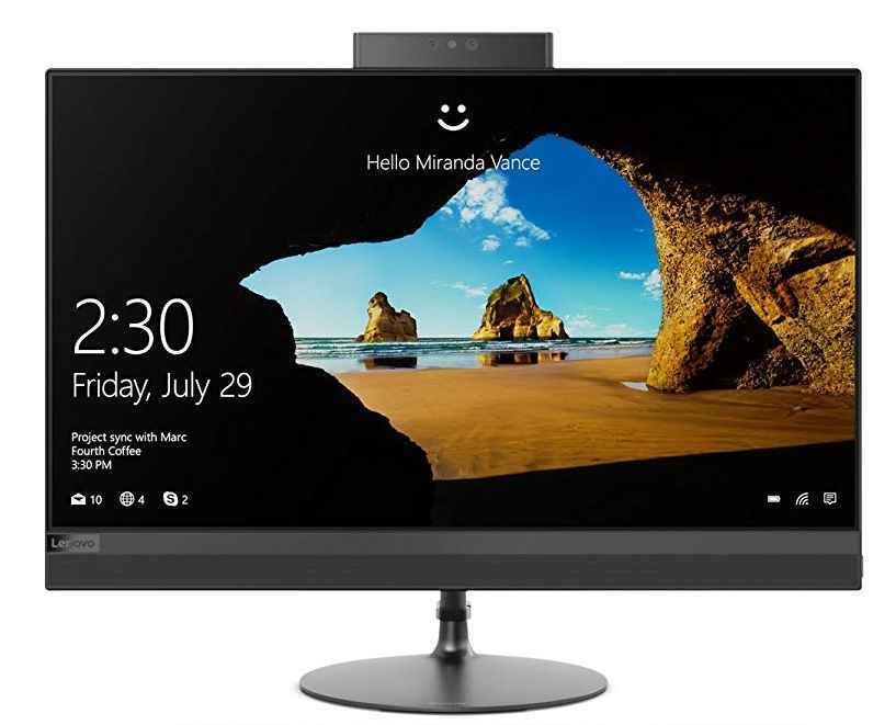 Lenovo IdeaCentre 520-24IKL 23.8-Inch All-in-One PC, Black