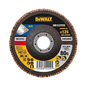 5 x DeWALT Ceramic Flap Discs 125 x 80 G