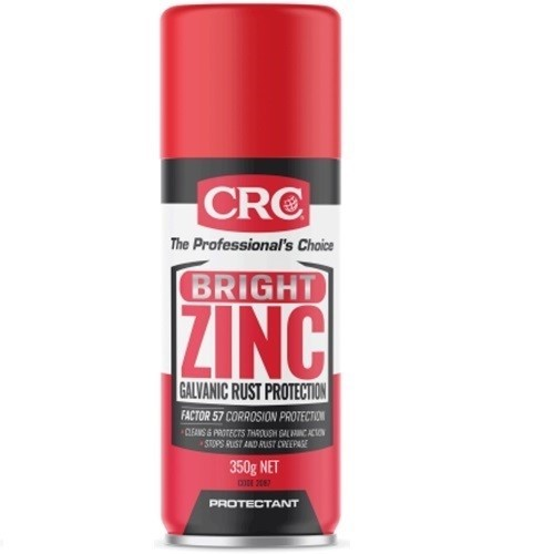 CRC Bright Zinc Galvanised Protection Spray 350g. Buyers Note - Discount Fr