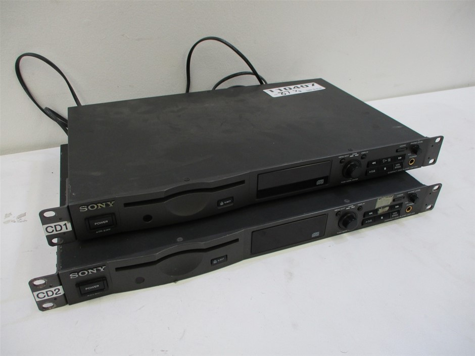 Qty 2 x Sony CDP-D12 Compact Disc Player