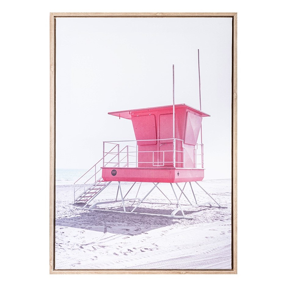 Lifesaver Beach Summer BFramed Print 50X70
