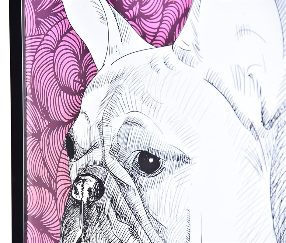 Baxter the Bully Framed Print Black Frame 44 x 61
