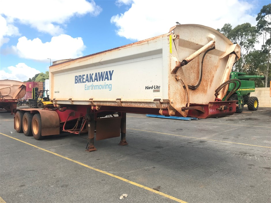 2015 Road West Transport TRI350 Triaxle Side Tipping `A` Trailer