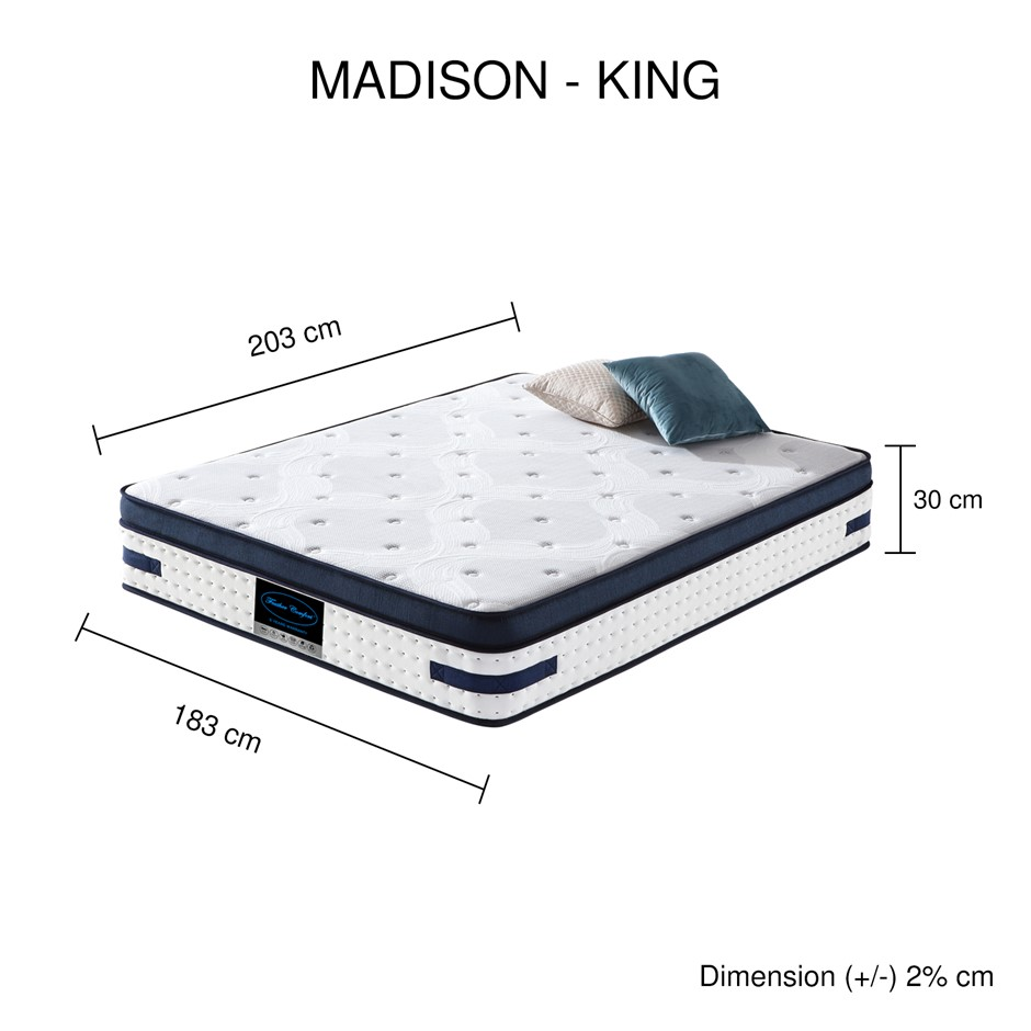 Latex Collection Pocket Spring Madison Mattress (KING)