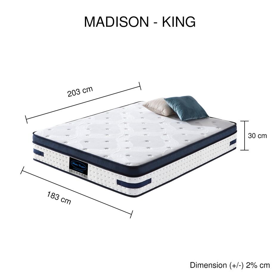 Latex Collection Pocket Spring Madison Mattress (KING)