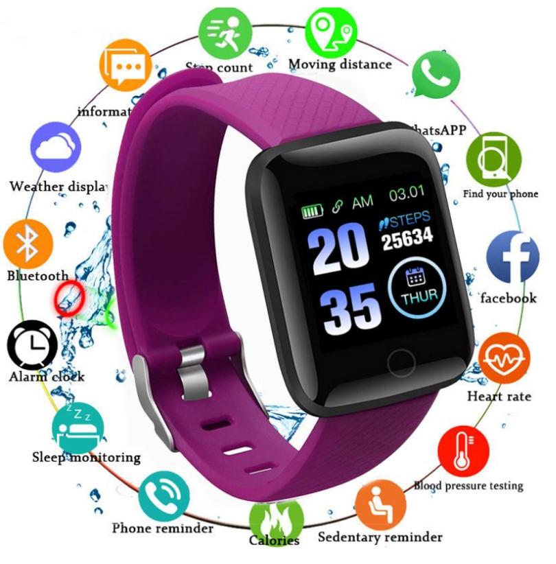 Pulse V70 Smart Watch Purple